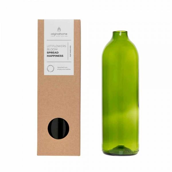 Vase upcycled green