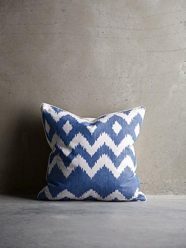 Kissenbezug blue Ikat TineK Home
