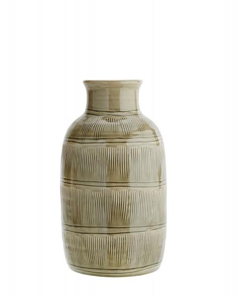Vase green stripes
