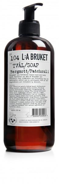 No 104 Flüssigseife Bergamotte Patchouli