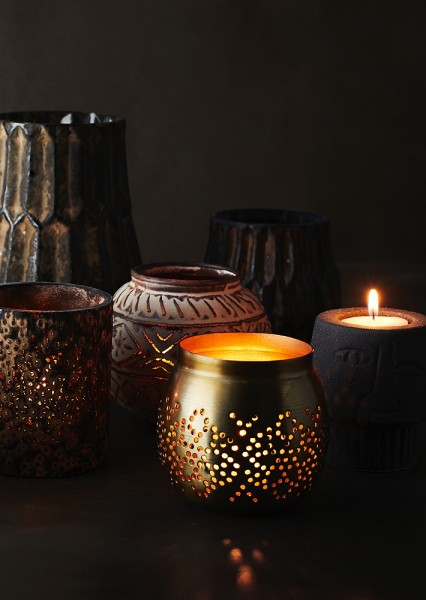 Glasvase braun handmade